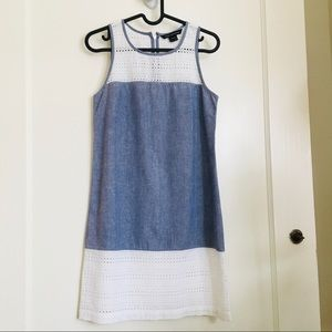 NWOT French Connection Eyelet Blue Casual Dress